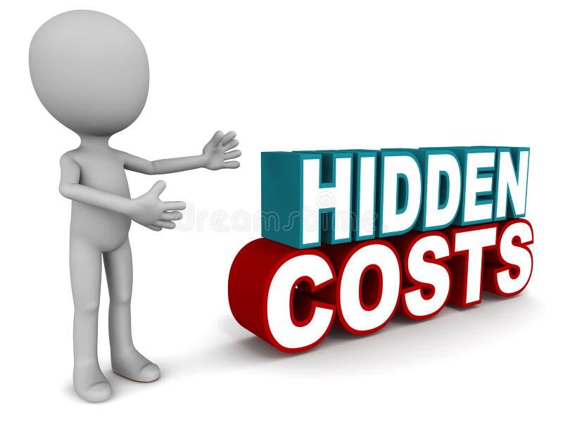 Gömda kostnader stock illustrationer