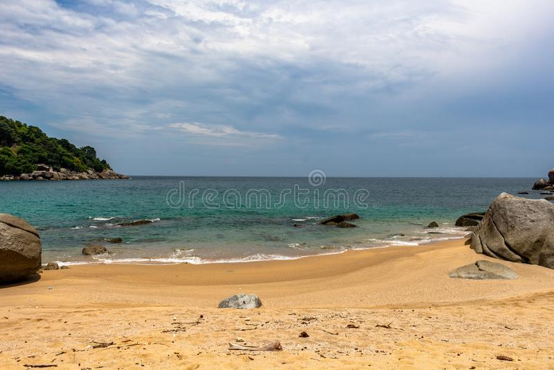 Gömda Noi Beach Phuket Thailand royaltyfri fotografi