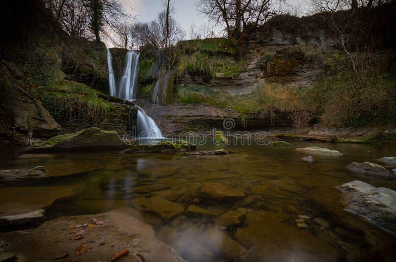 Gömda vattenfall arkivbilder