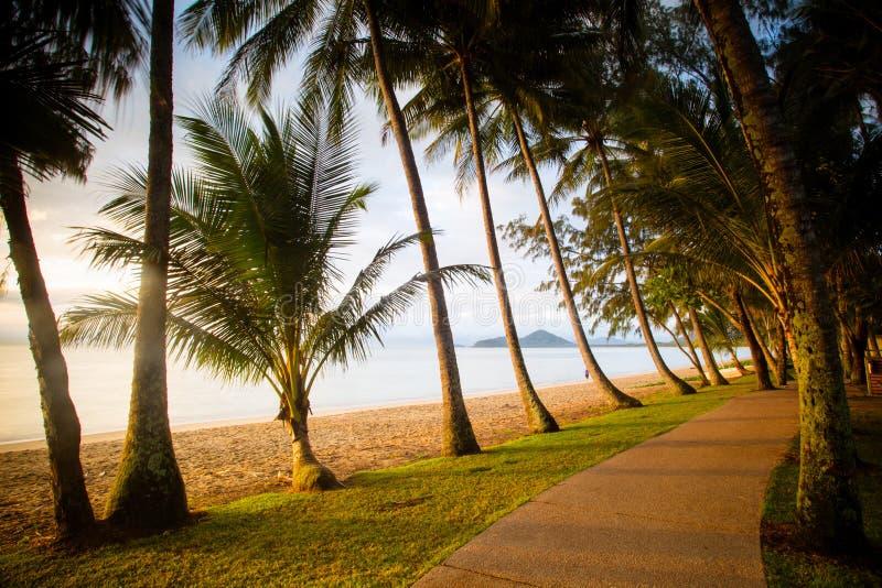 Gömma i handflatan den Beachfront lilla viken royaltyfria bilder