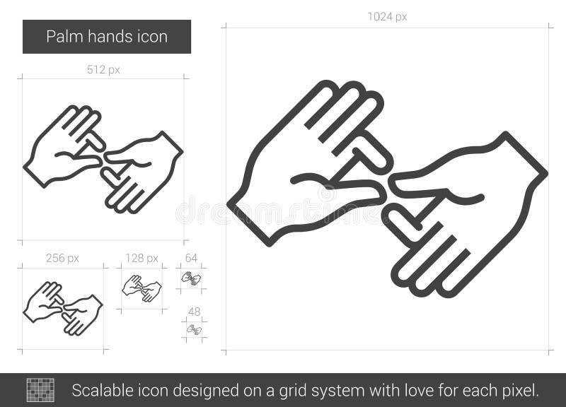 Gömma i handflatan handlinjen symbol vektor illustrationer