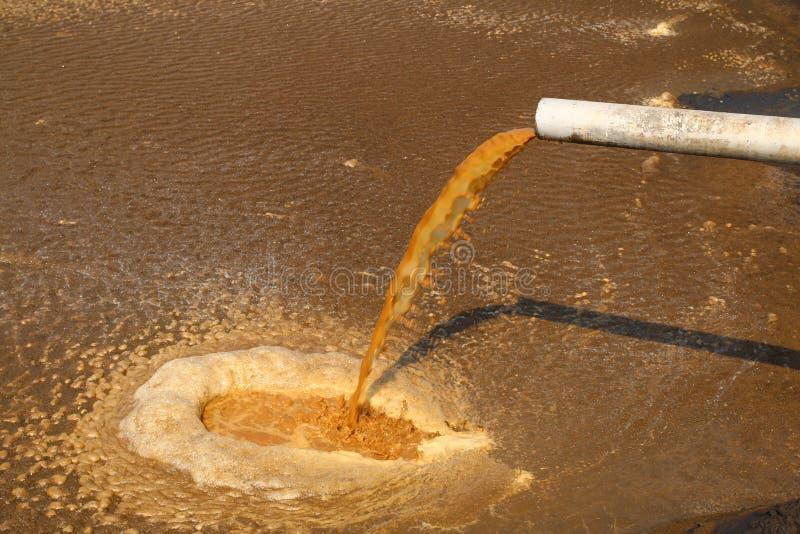 Gömma i handflatan olje- maler utflytande avloppsvatten - serie 3 royaltyfria foton