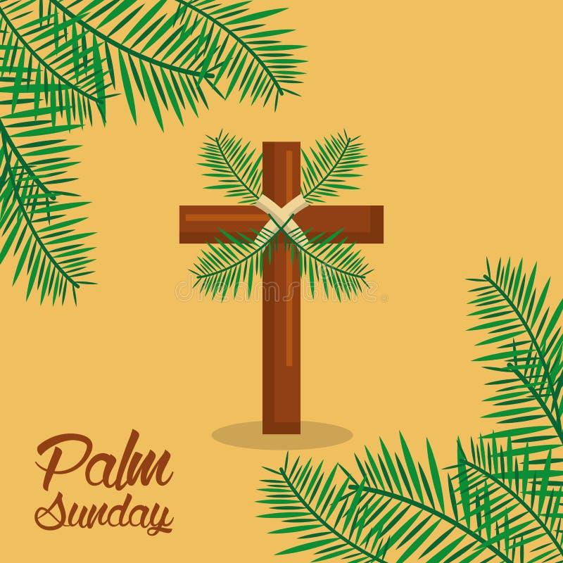 Gömma i handflatan sakral beröm söndag för den heliga veckan vektor illustrationer