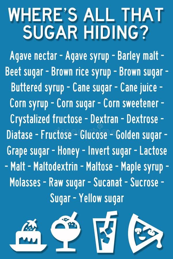 Gömt socker stock illustrationer