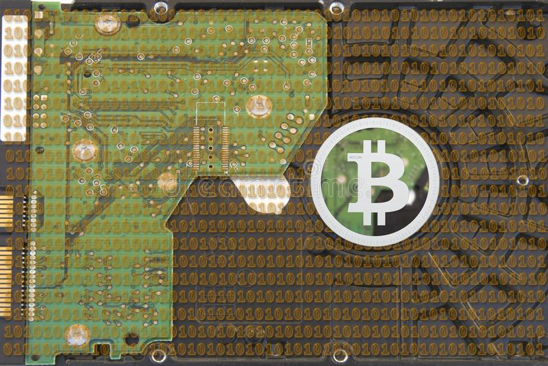 Gör bitcoins royaltyfria bilder
