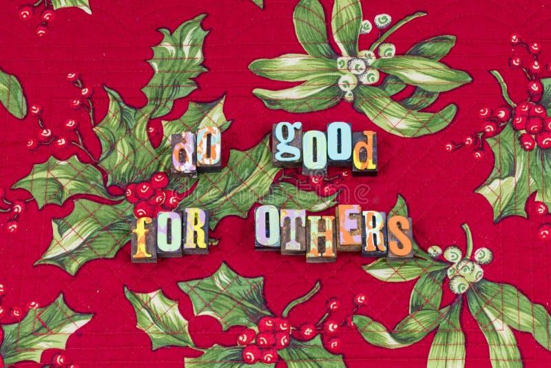 Gör bra andra välgörenhethjälptypografi vektor illustrationer