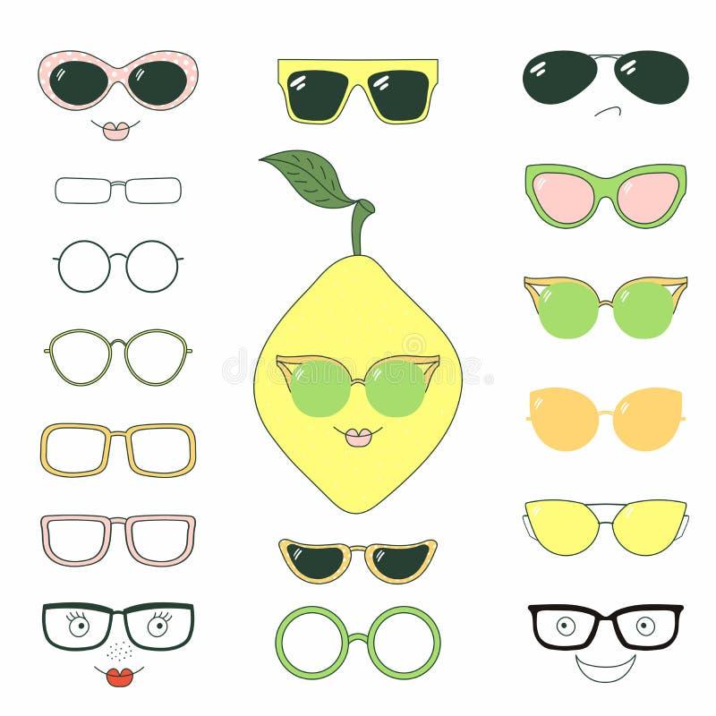 Gör det själv citronen i exponeringsglas stock illustrationer