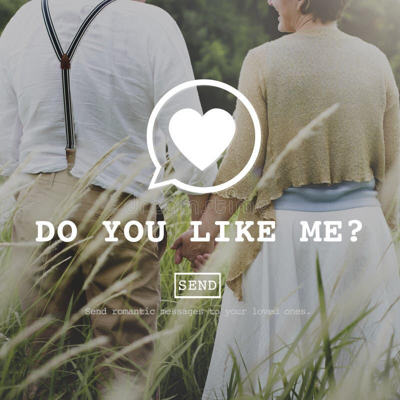 Gör dig gillar mig det Valentine Romance Love Toast Dating begreppet royaltyfri fotografi