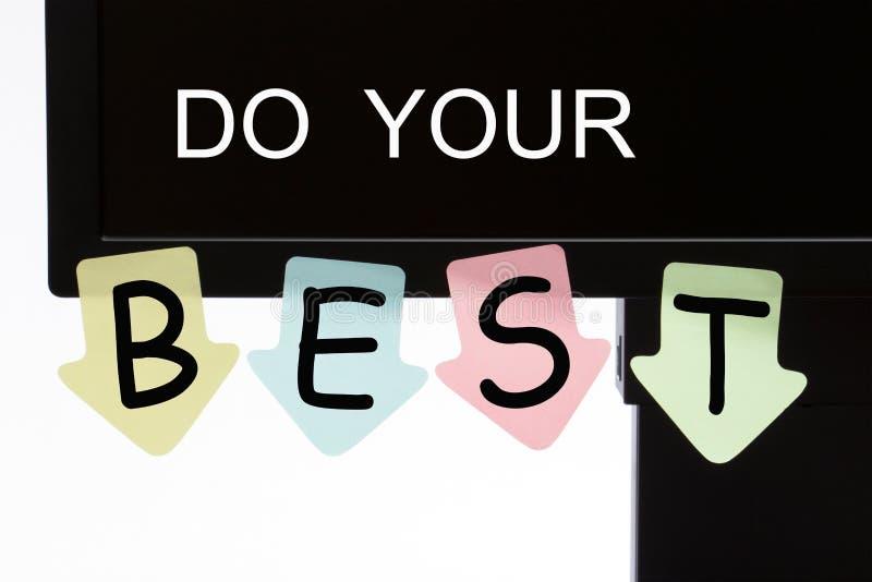 Gör ditt bästa begrepp arkivfoto
