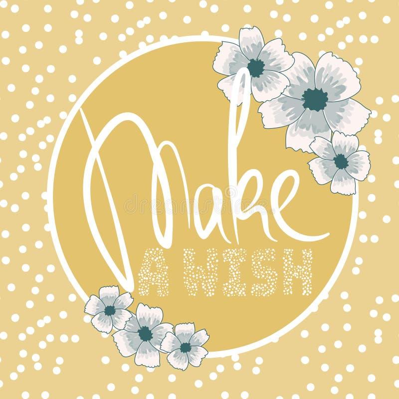 ` Gör en önska`, stock illustrationer