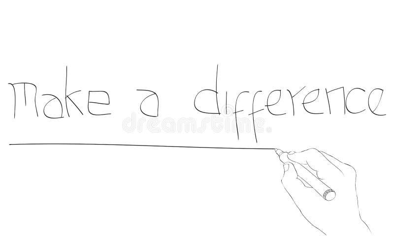 Gör en skillnad stock illustrationer