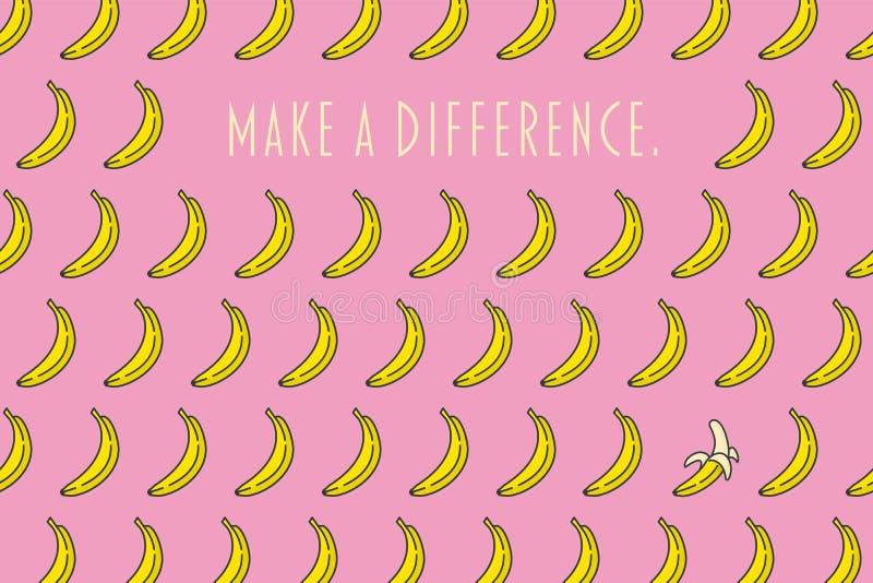 Gör en skillnad den motivational affischen stock illustrationer