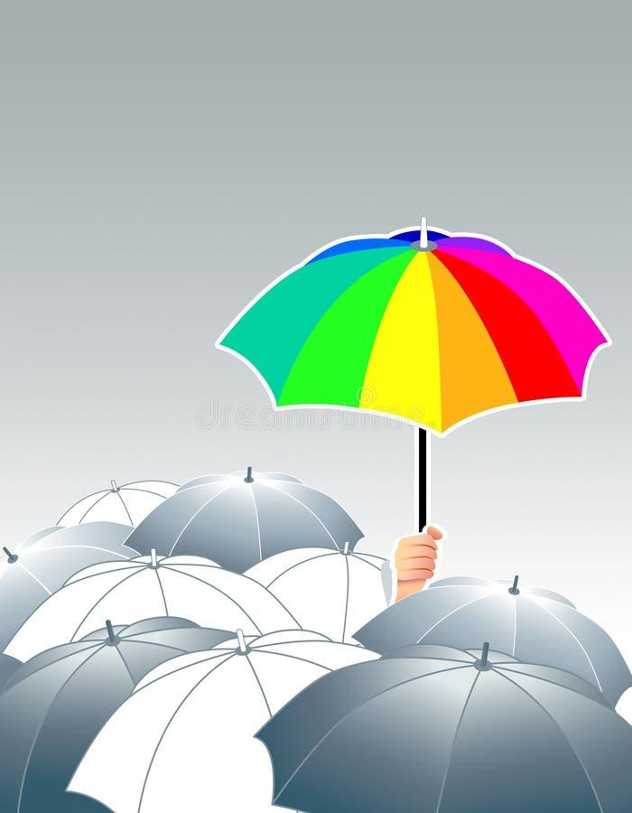 gör för att egen regnbågen royaltyfri illustrationer