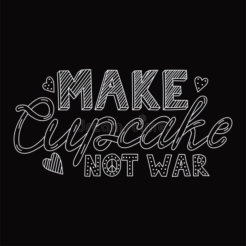 Gör kriget för muffin inte stock illustrationer