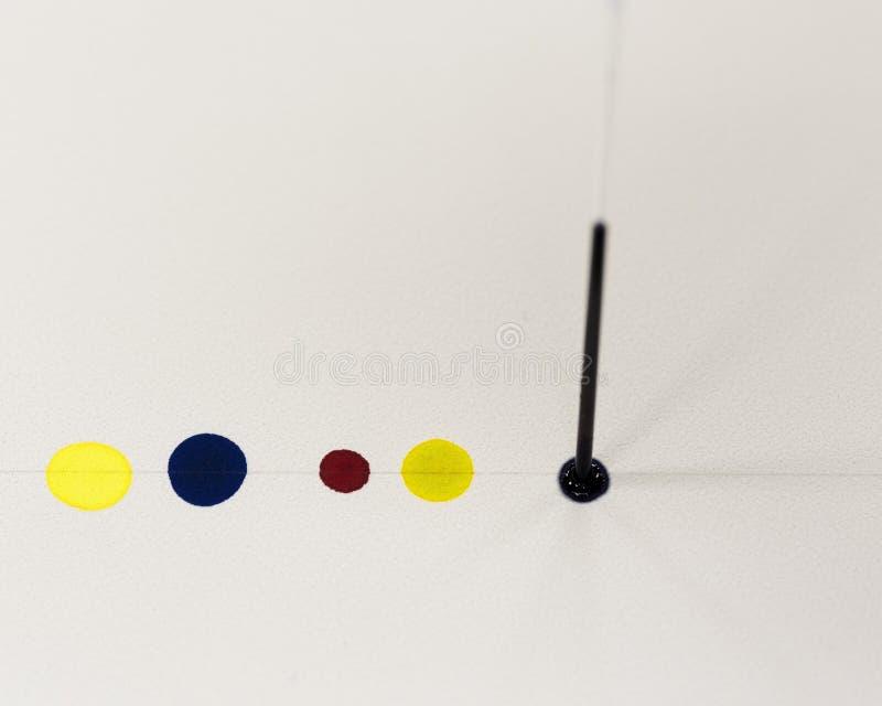 Gör lagerchromatography tunnare fotografering för bildbyråer