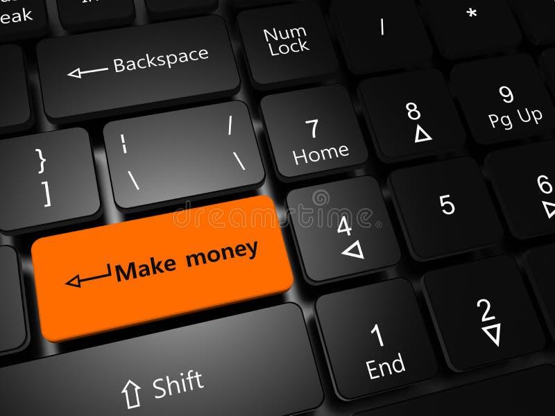Gör pengar vektor illustrationer