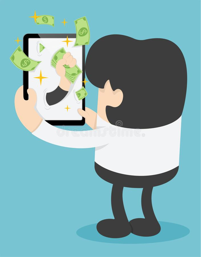 gör pengar online- royaltyfri illustrationer