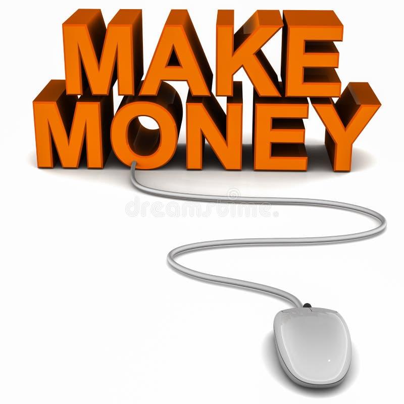 Gör pengar online- vektor illustrationer