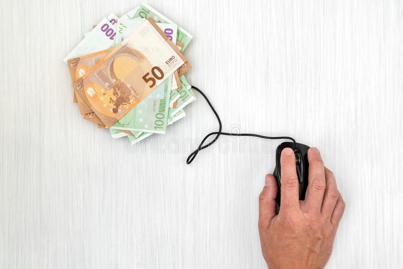 Gör pengar på internet arkivfoton