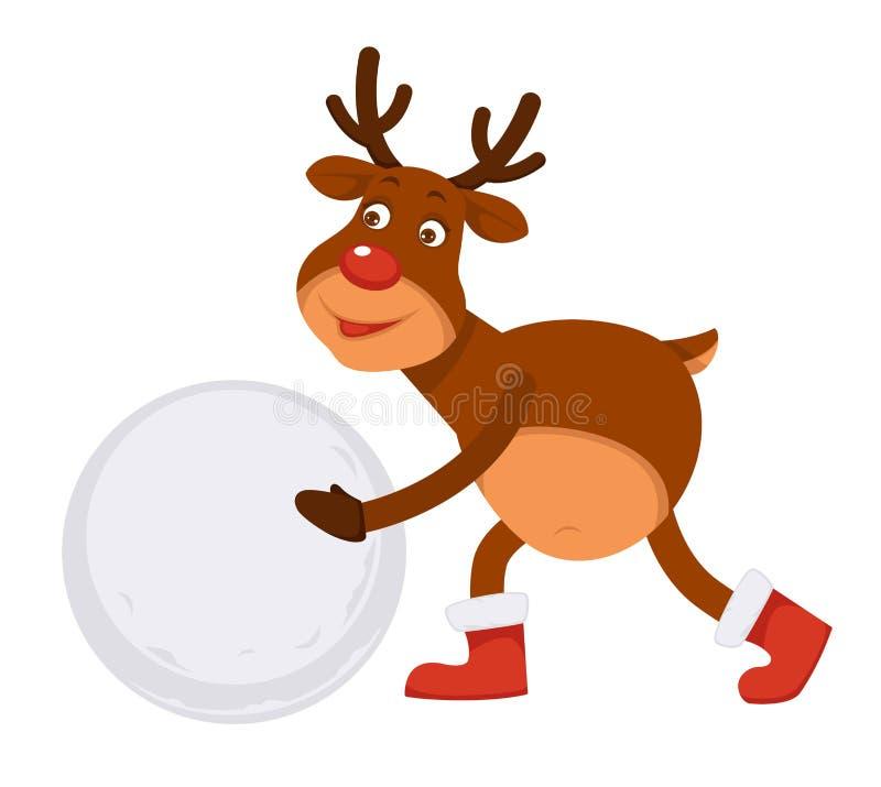 Gör polar hjort för rolig jul i kängor snögubben royaltyfri illustrationer