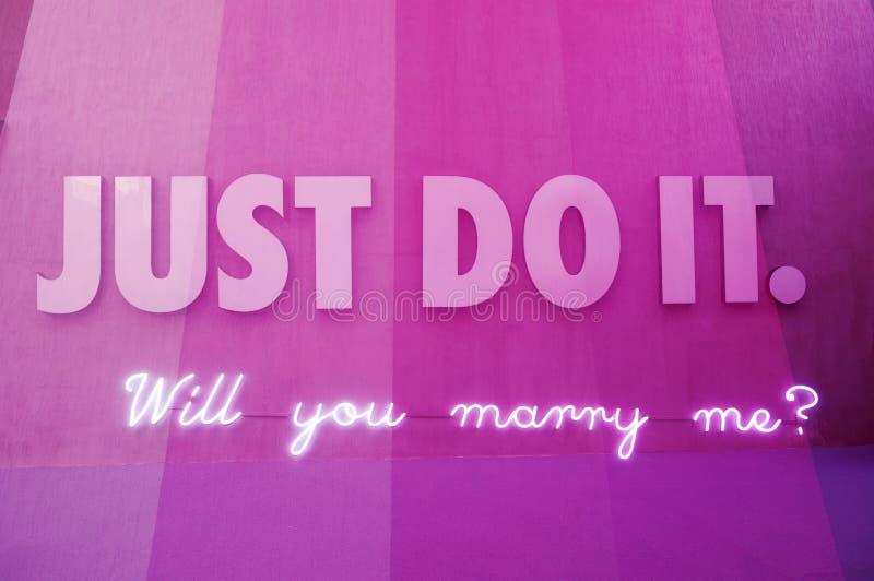 Gör precis det, dig ska att gifta sig mig för att underteckna porslinet arkivfoton
