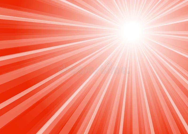 Gör randig bakgrund med den röda mitten stock illustrationer
