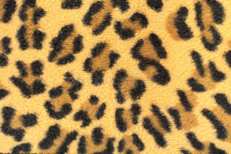 Gör randig leopardtyg arkivbild
