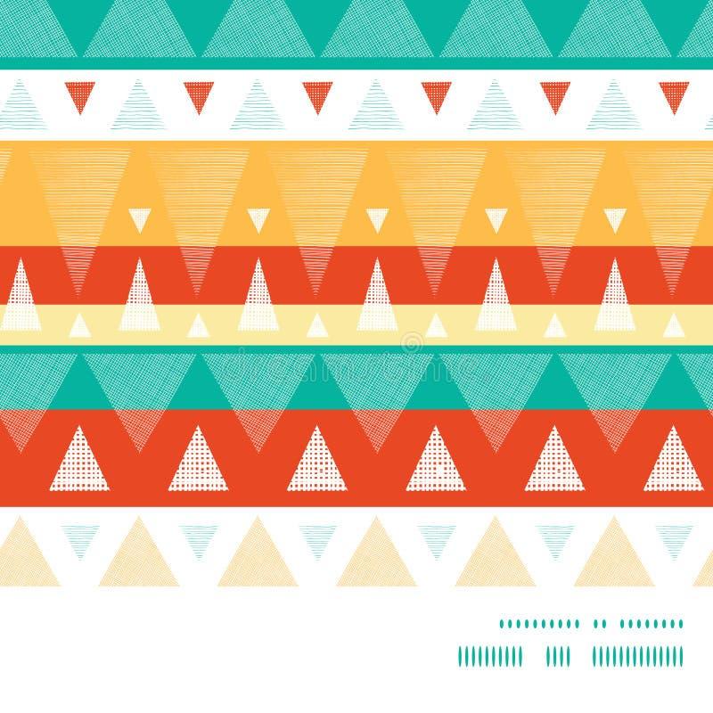Gör randig vibrerande ikat för vektorn horisontalramen royaltyfri illustrationer