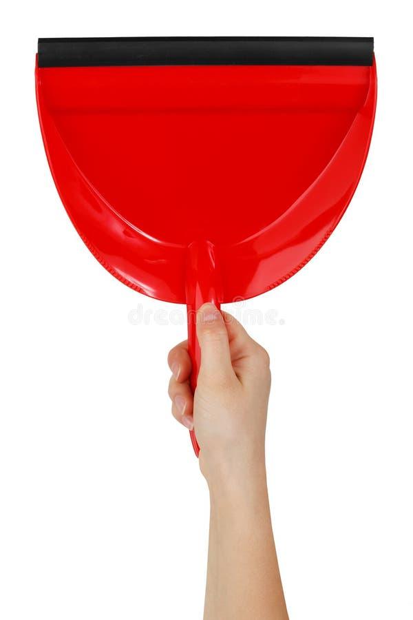 gör ren den röda skyffeln för huset till arkivfoton