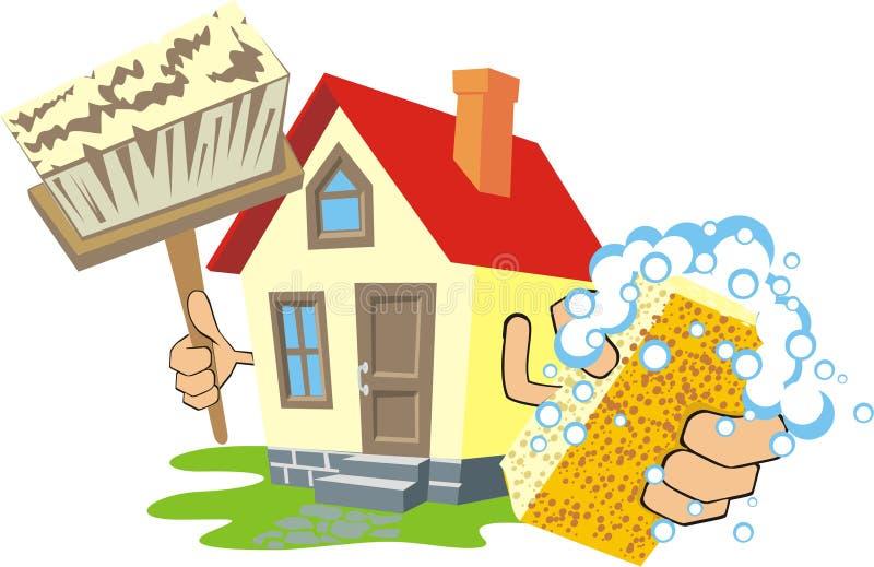 gör ren huset vektor illustrationer