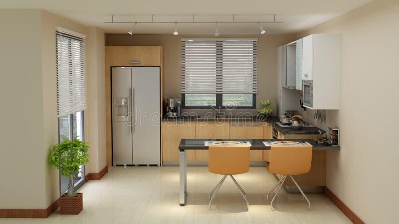 gör ren modernt kök royaltyfria bilder