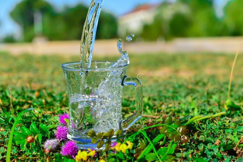 Gör ren och för hygien naturligt vatten, drickbart rent royaltyfria foton