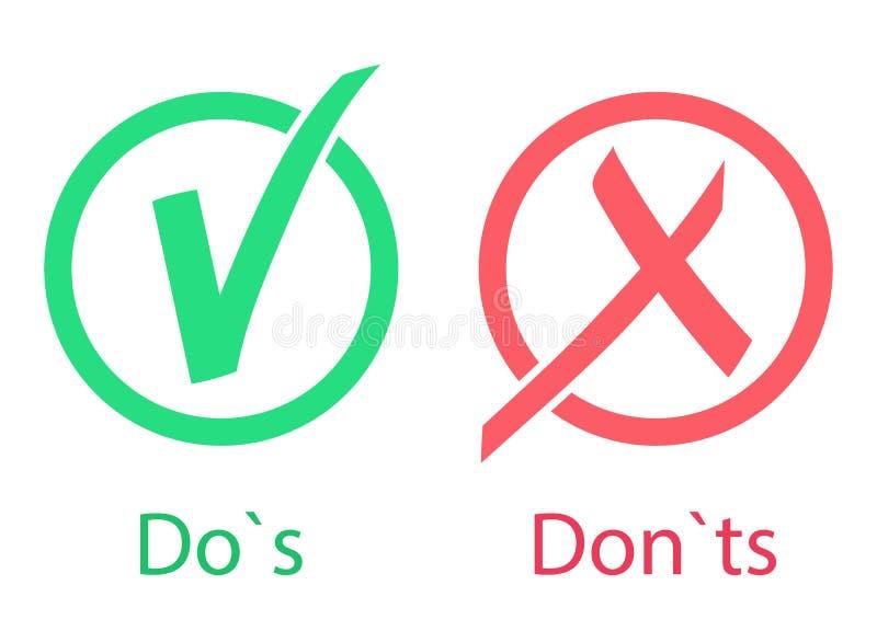 Gör s- och universitetsläraretssymbolen den ingen bilden för begreppet 3d framför ja Accepterat och inte accepterat Godkänt och k royaltyfri illustrationer