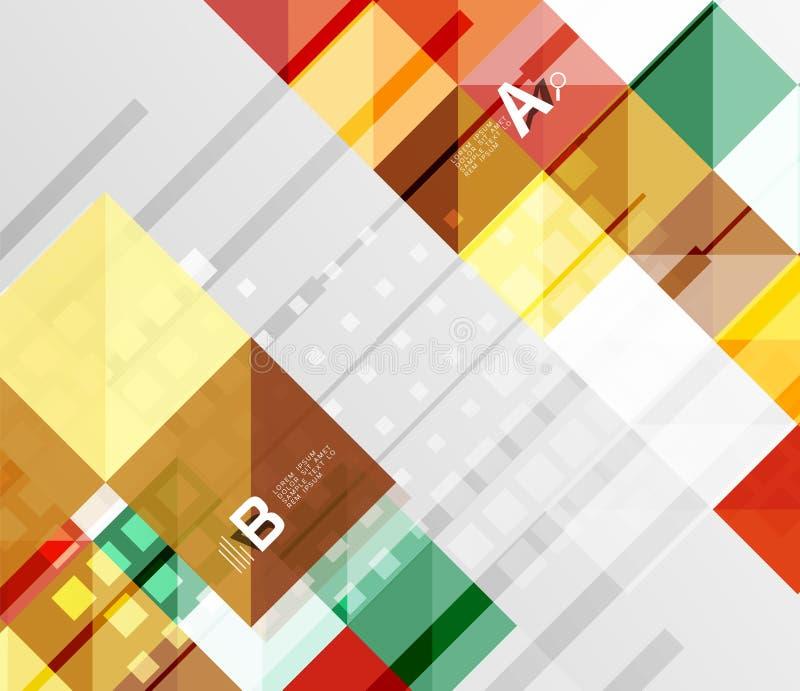 Gör sammandrag fyrkantiga beståndsdelar för vektor på grå färger bakgrund med infographics stock illustrationer