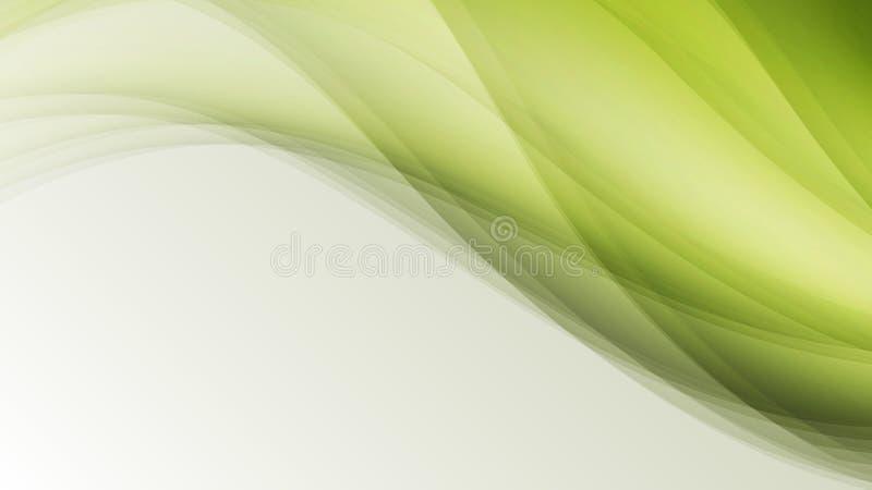 Gör sammandrag idérika linjer för grönt ecovågblad bakgrund royaltyfri illustrationer
