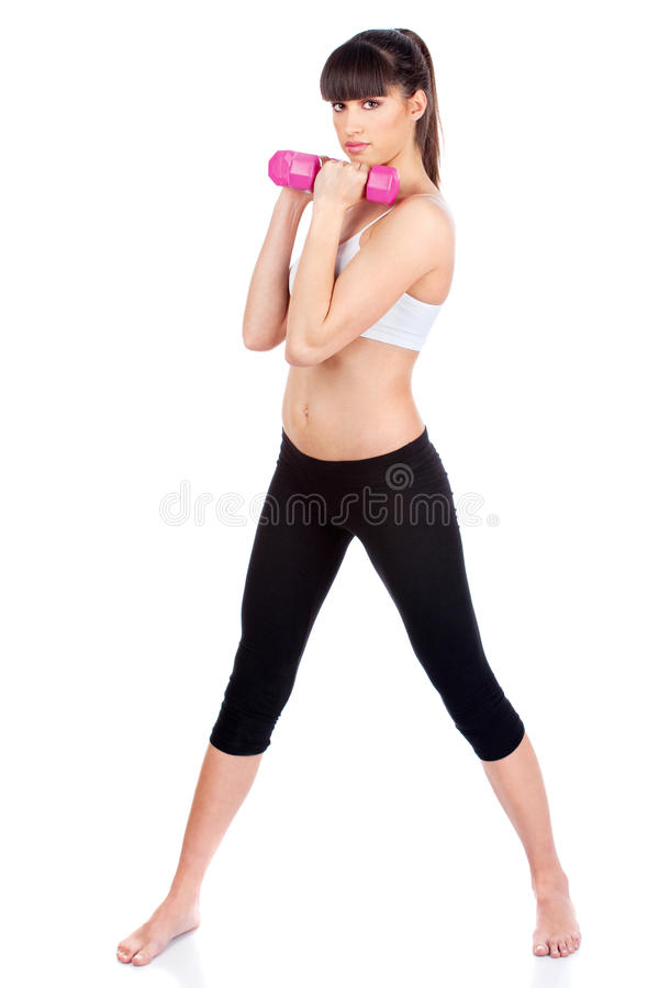 göra övningskonditionkvinnan arkivfoto