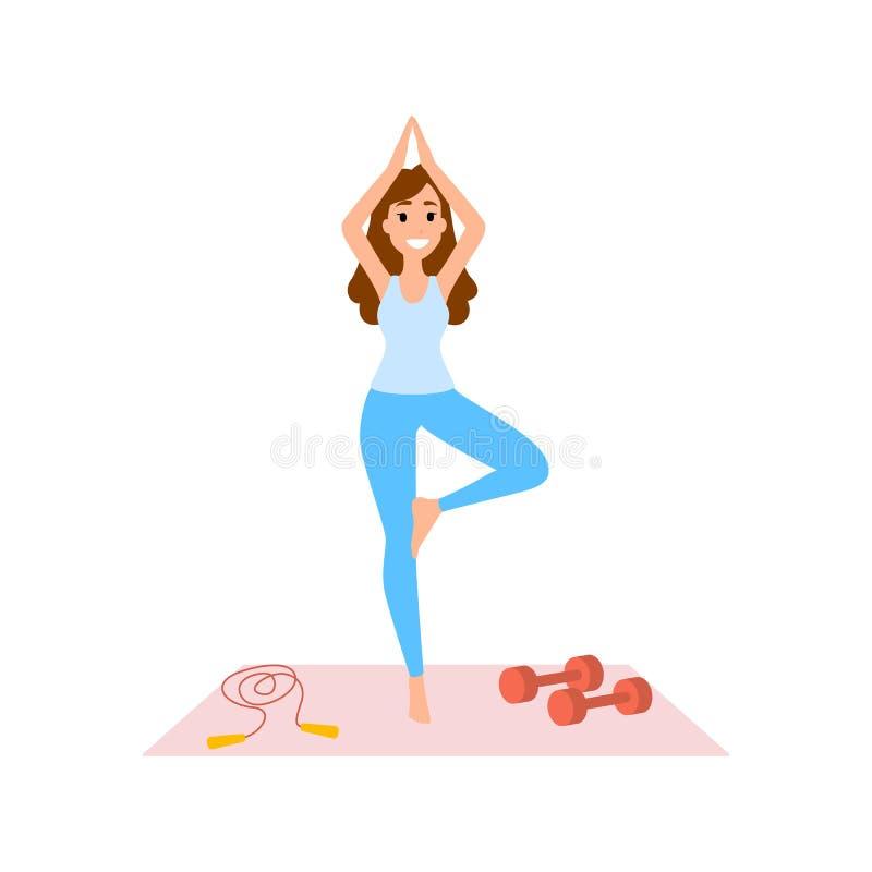 göra övningskvinnayoga Meditationen poserar och förkroppsligar vektor illustrationer