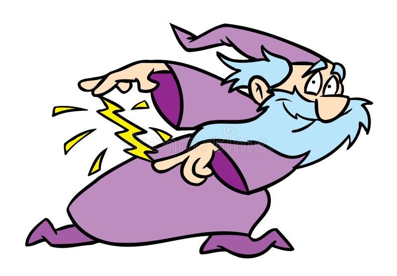 göra den magiska trollkarlen vektor illustrationer