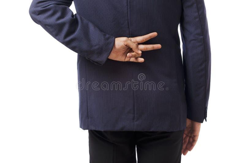 Göra en gest för affärsman arkivfoton
