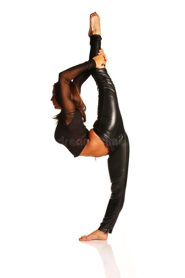 göra gymnastikkvinnan royaltyfri fotografi