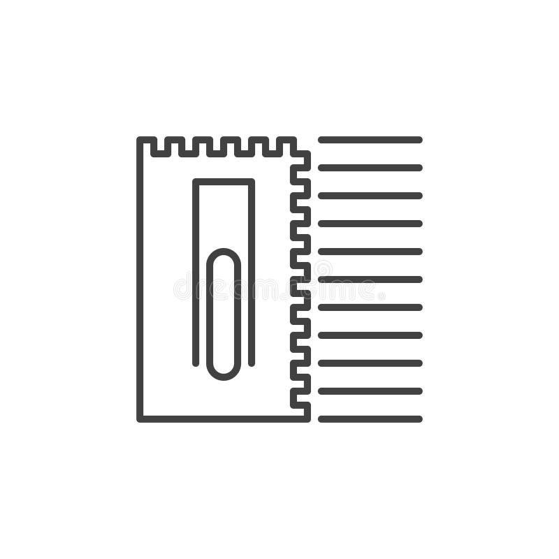 Göra hack i symbol för murslevvektorbegrepp i översiktsstil royaltyfri illustrationer