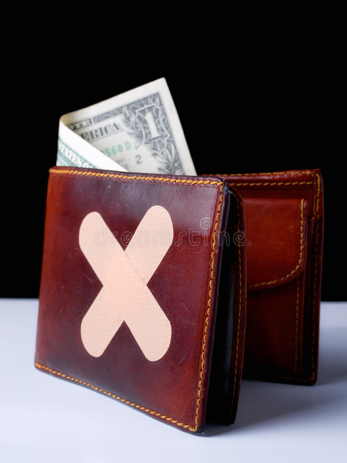 göra ond plånboken royaltyfri bild