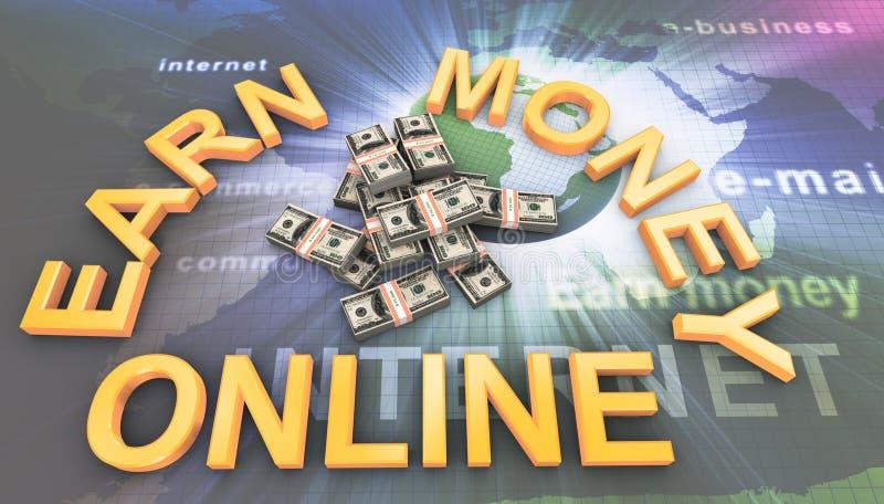 göra pengar online- vektor illustrationer