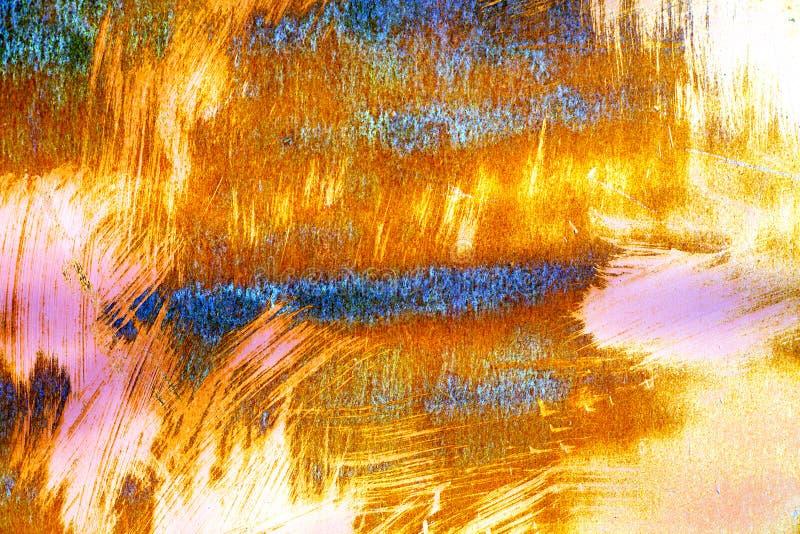 Göra sammandrag anfrätt färgrik rostig metallbakgrund, rostig metalltextur royaltyfria foton