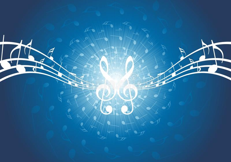 göra sammandrag anmärkningar för musikalen för bakgrundsmusik stock illustrationer