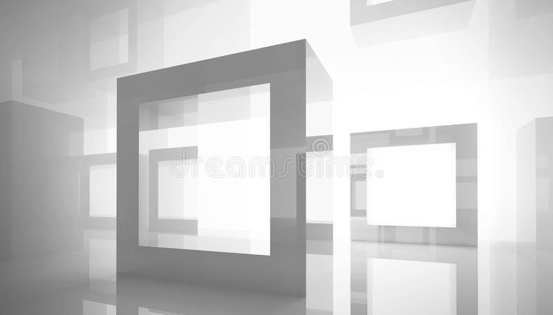 Göra sammandrag arkitekturbakgrund med ramar stock illustrationer