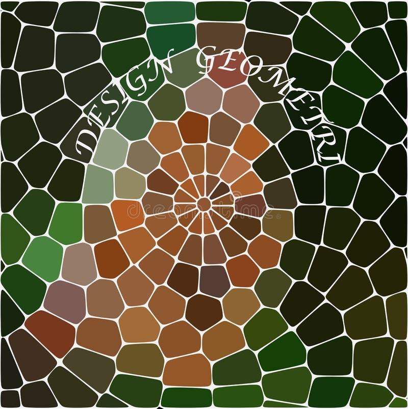 Göra sammandrag att upprepa geometrisk bakgrund med kaotisk textur Ojämn modell av kvarter royaltyfri illustrationer