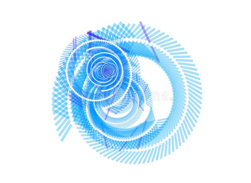 göra sammandrag blå swirlwhite för bakgrund vektor illustrationer
