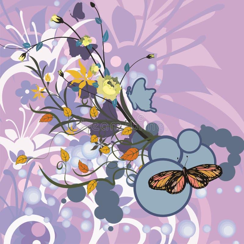 göra sammandrag blom- bakgrund vektor illustrationer