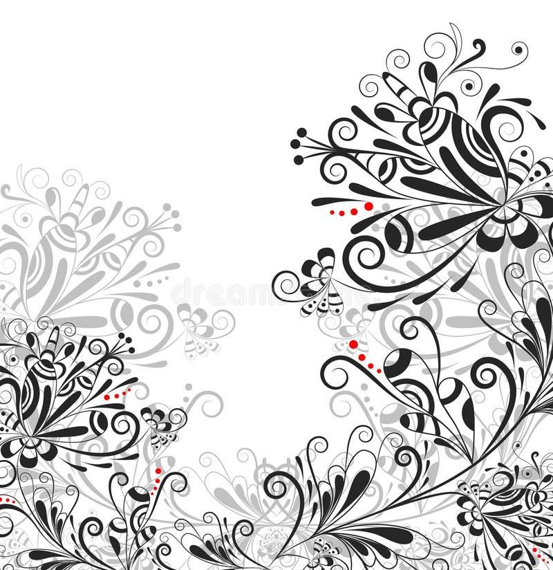 göra sammandrag blom- pattern3 royaltyfri illustrationer